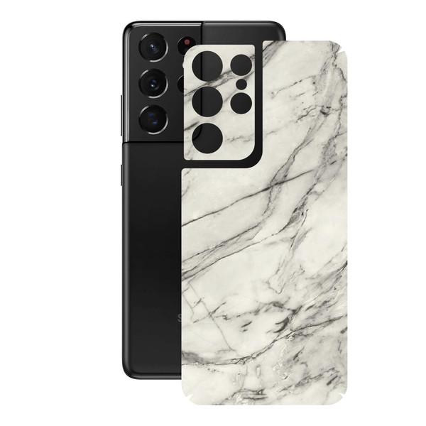 برچسب پوششی راک اسپیس مدل Marble-WH مناسب برای گوشی موبایل  سامسونگ  Galaxy S21 Ultra