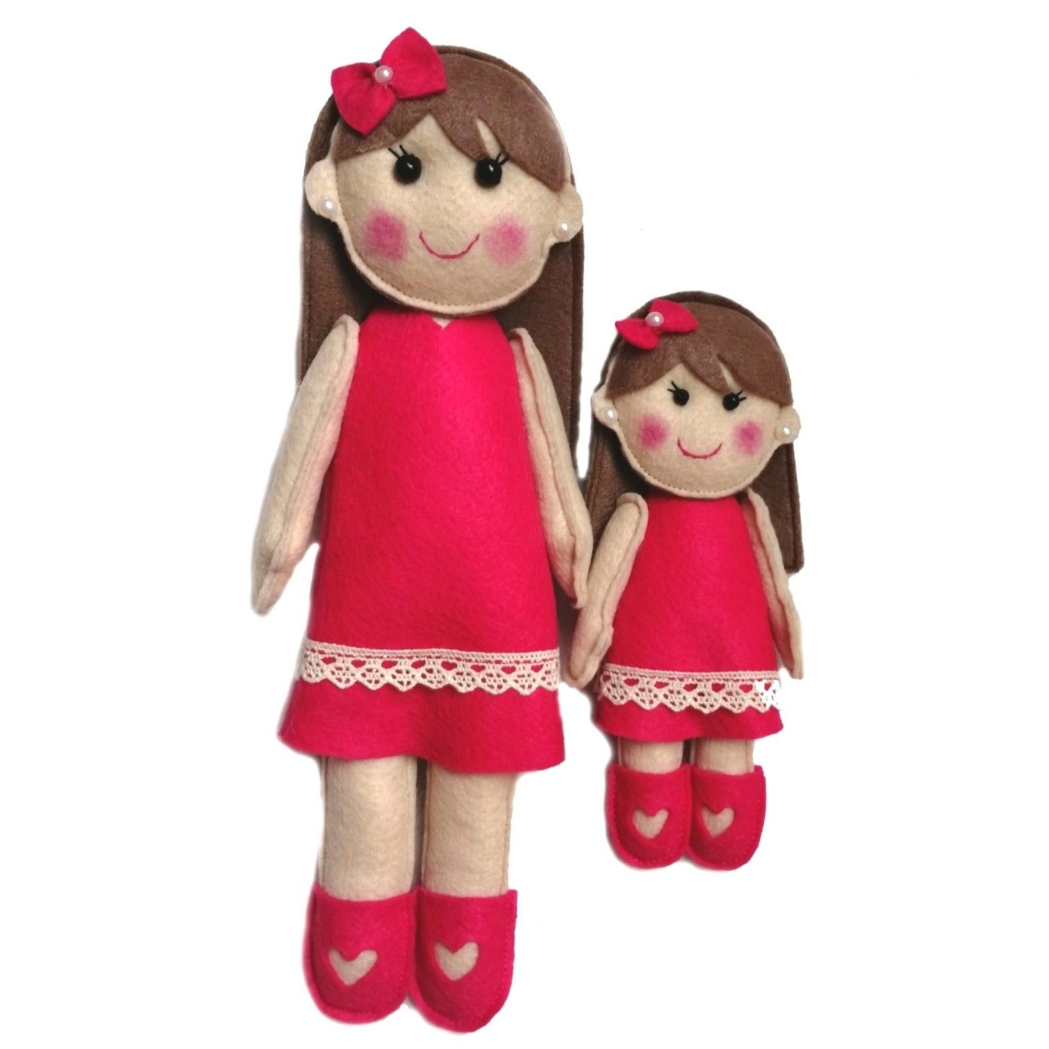 عروسک نمدی طرح مادر دختری کد 201