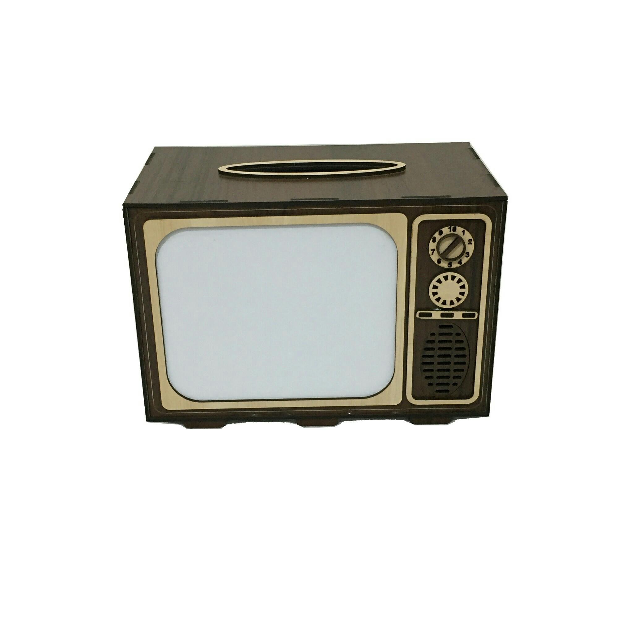 جعبه دستمال کاغذی طرح تلویزیون