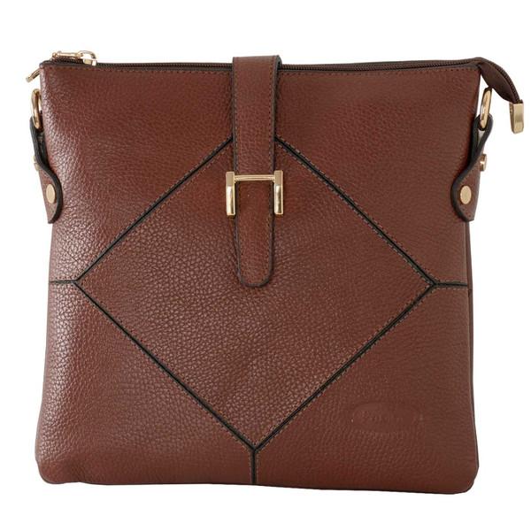 کیف دوشی زنانه پارینه چرم مدل plv222-7