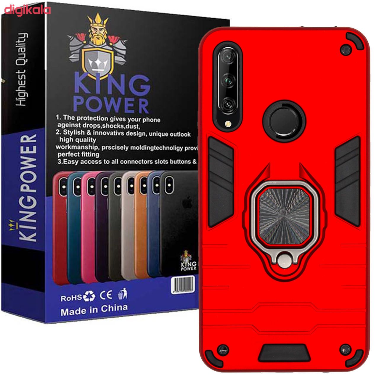 کاور کینگ پاور مدل ASH22 مناسب برای گوشی موبایل هوآوی Y9 Prime 2019 / آنر 9X main 1 2