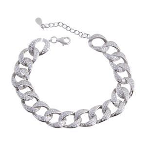 دستبند نقره زنانه بازرگانی میلادی کد DP_073
