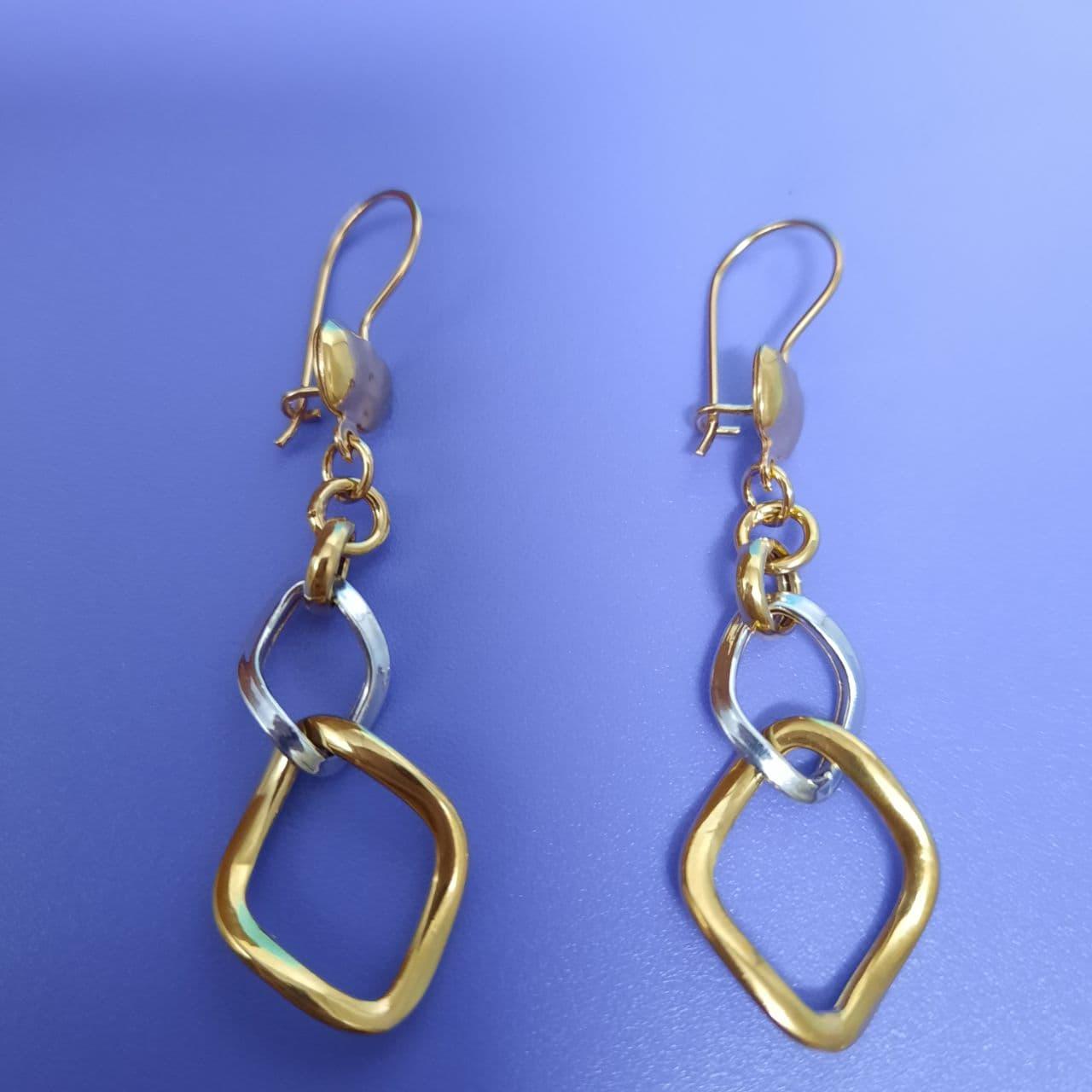 گوشواره طلا 18 عیار زنانه  گالری یارطلا کد AG04