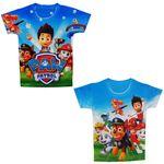 تی شرت پسرانه طرح سگ های نگهبان کد SG 110 مجموعه دو عددی