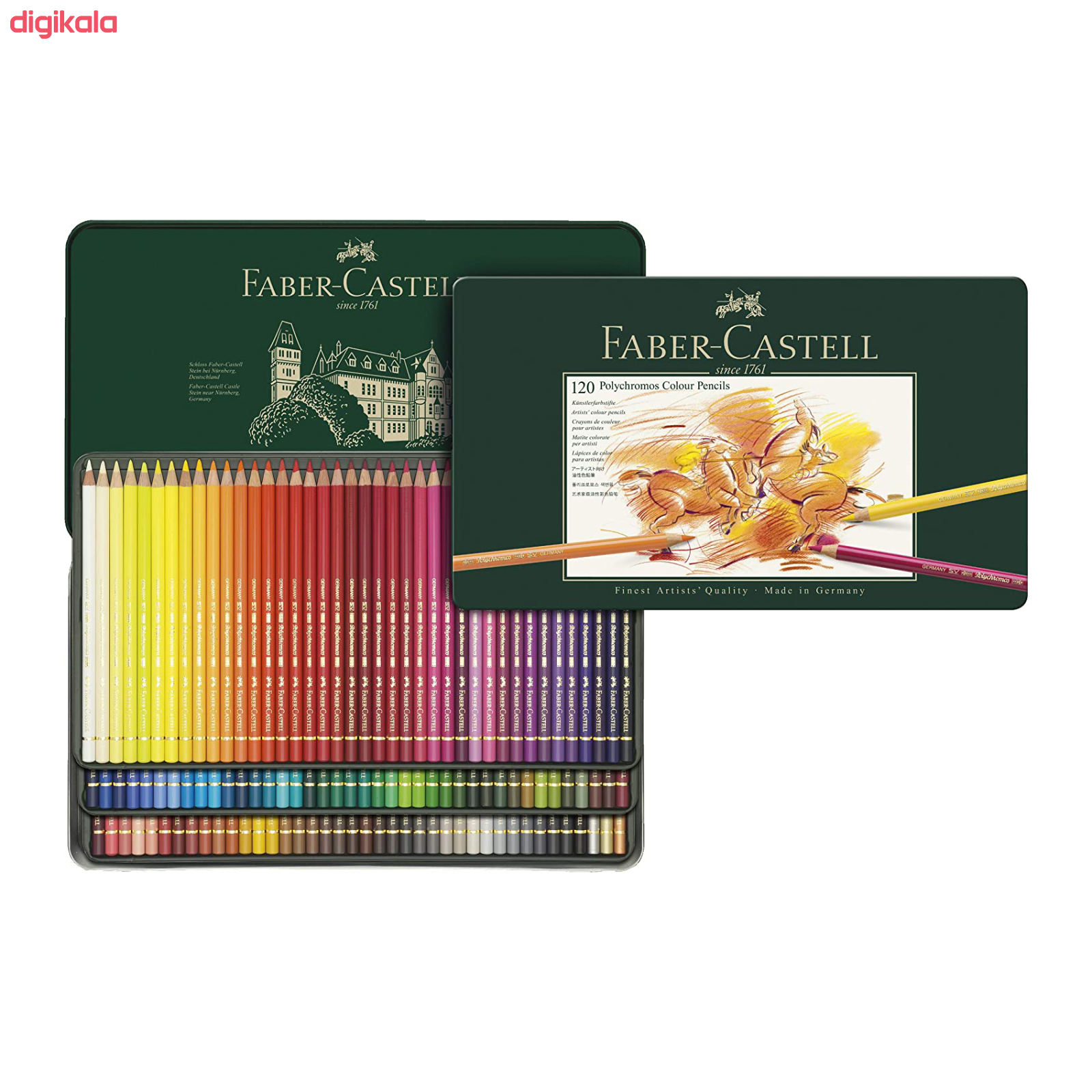 مداد رنگی 120 رنگ فابر کاستل مدل Polychromos main 1 2