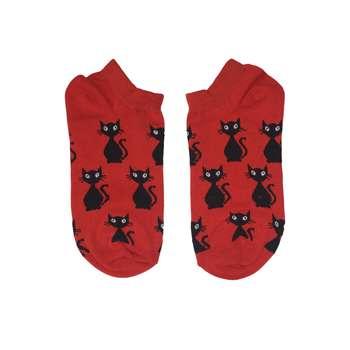 جوراب زنانه طرح گربه ایستاده کد 10012
