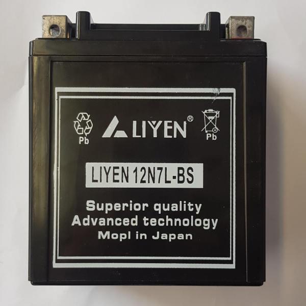 باتری موتورسیکلت لاین مدل 12N7L_BS