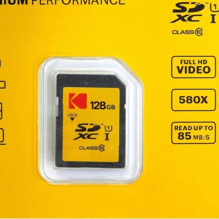 کارت حافظه SDXC کداک مدل PREMIUM کلاس 10 استاندارد U1 سرعت 85MBps ظرفیت 128 گیگابایت