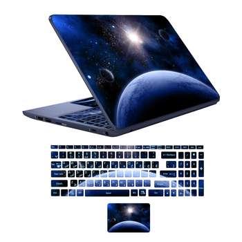 استیکر لپ تاپ طرح spa-ce 08 به همراه برچسب حروف فارسی کیبورد