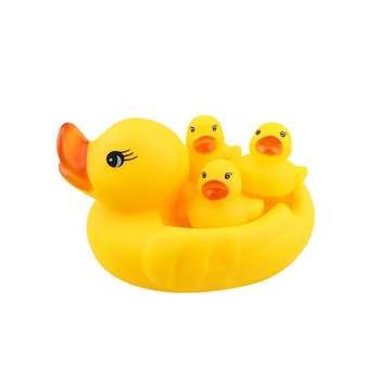 عروسک حمام کودک طرح اردک مجموعه 4 عددی