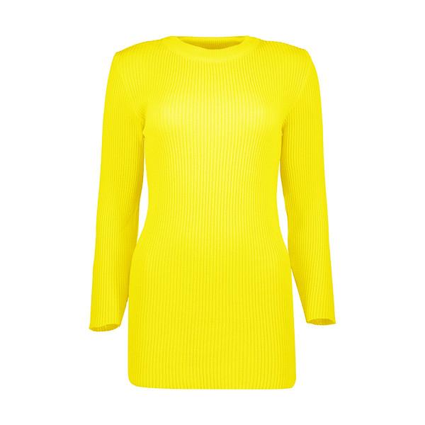 تونیک بافت زنانه مدل T20 رنگ زرد