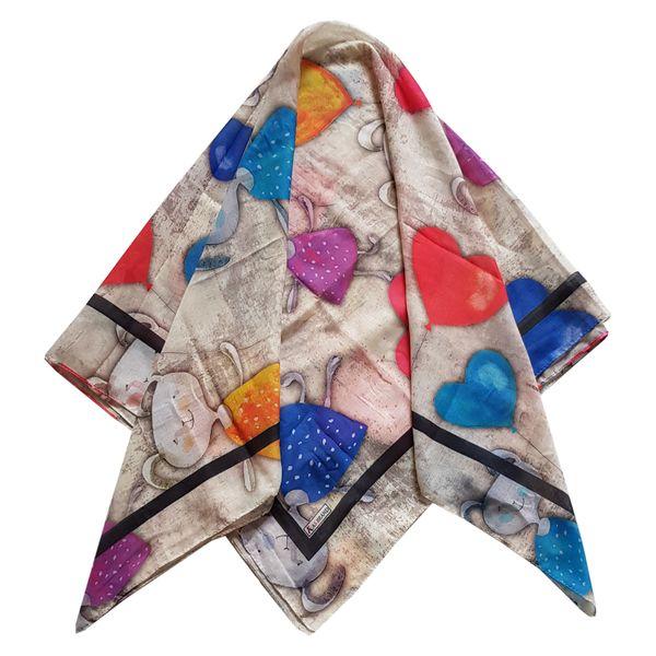 روسری دخترانه مدل خرگوش و قلب کد san930
