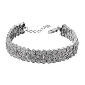 دستبند نقره زنانه بازرگانی میلادی کد DP_182