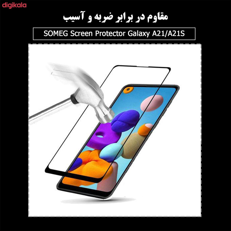 محافظ صفحه نمایش سرامیکی سومگ مدل Ruby-9 مناسب برای گوشی موبایل سامسونگ Galaxy A21 / A21s main 1 4