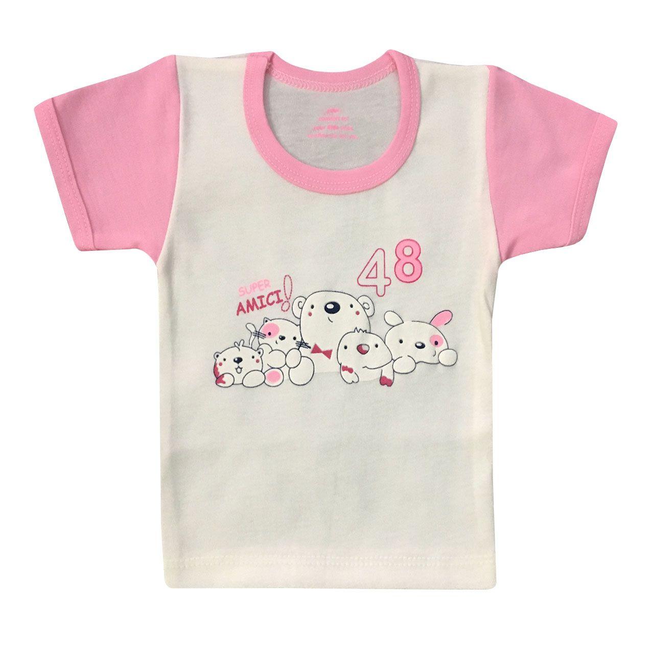 ست 3 تکه لباس نوزادی دخترانه شاهین طرح امیکی کد M -  - 3