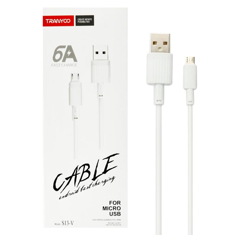 کابل تبدیل USB به microUSB ترانیو مدل S13-V طول 1 متر