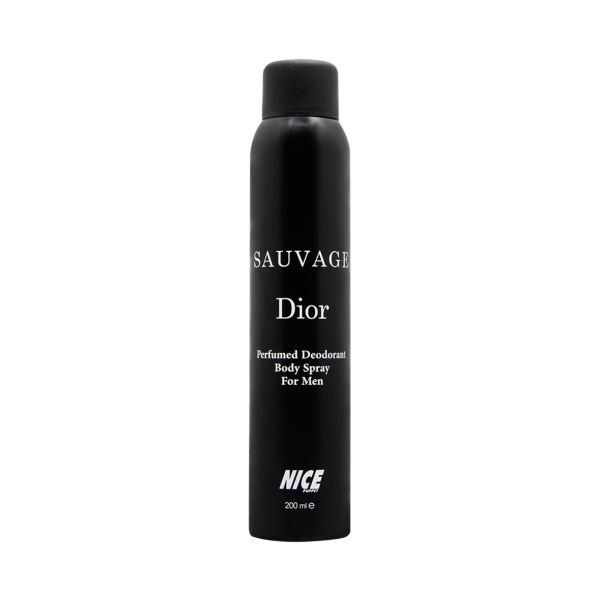اسپری خوشبو کننده بدن مردانه نایس پاپت مدل Sauvage Dior حجم 200 میلی لیتر