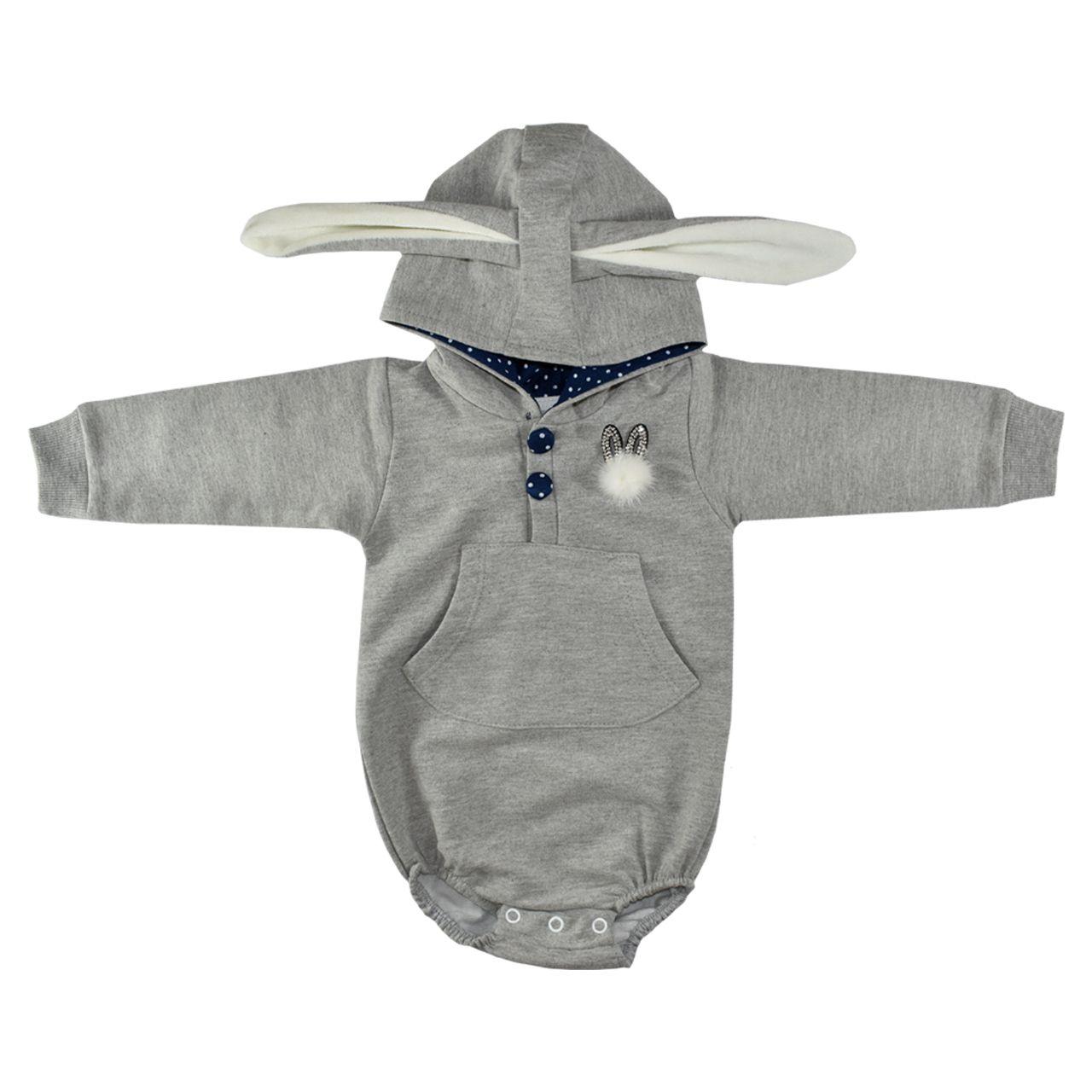 بادی آستین بلند نوزادی طرح خرگوش کد 302 -  - 2