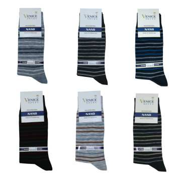جوراب مردانه ونیز کد AL-V12 مجموعه 6 عددی