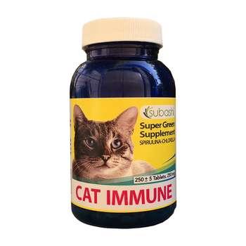 قرص مکمل غذای گربه سوباشی مدل Cat Immune وزن 95 گرم بسته 250 عددی