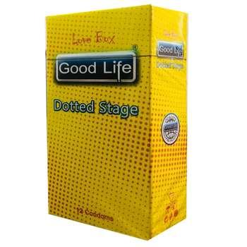 کاندوم گودلایف مدل DOTTED STAGE کد GO02 بسته 12 عددی