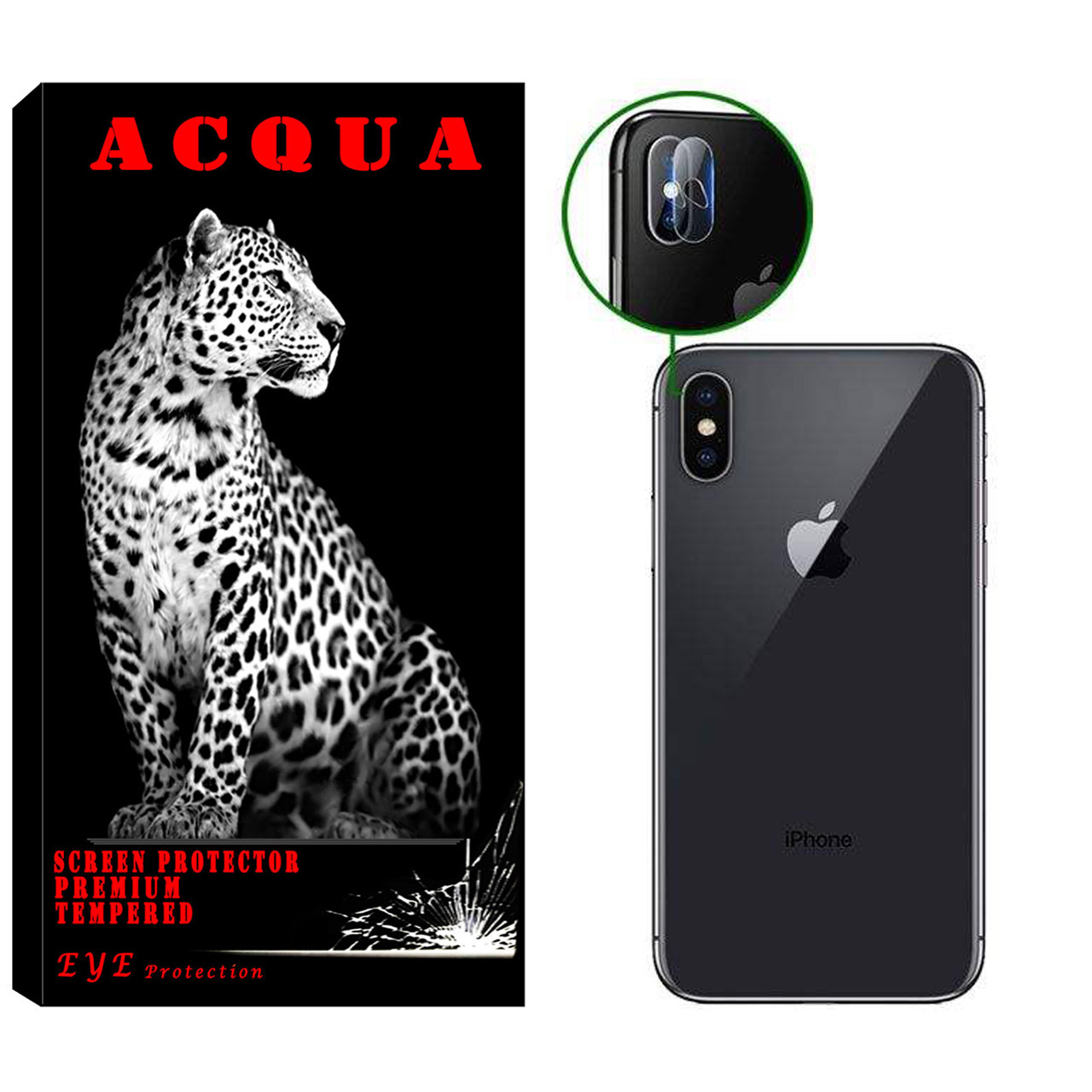محافظ لنز دوربین آکوا مدل LN مناسب برای گوشی موبایل اپل IPhone XS MAX