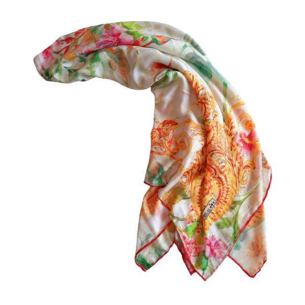 روسری زنانه بلالوک طرح دروازه بهشت کد 603