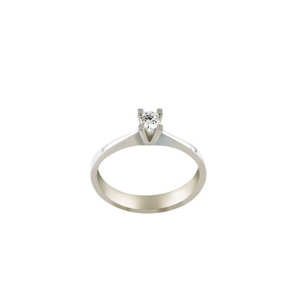 انگشتر طلا 18 عیار زنانه جواهری سروری مدل 9412