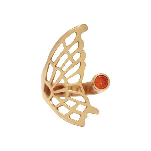 انگشتر طلا 18 عیار زنانه تلالو مدل بال پروانه