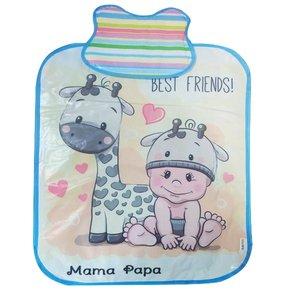 زیرانداز تعویض نوزاد ماما پاپا طرح زرافه کد 412