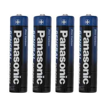 باتری نیم قلمی پاناسونیک مدل R03 بسته 4 عددی