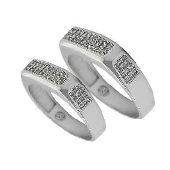 ست انگشتر نقره زنانه و مردانه مدل gf0147