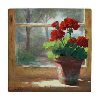 کاشی طرح گلدان شمعدانی کد wk657