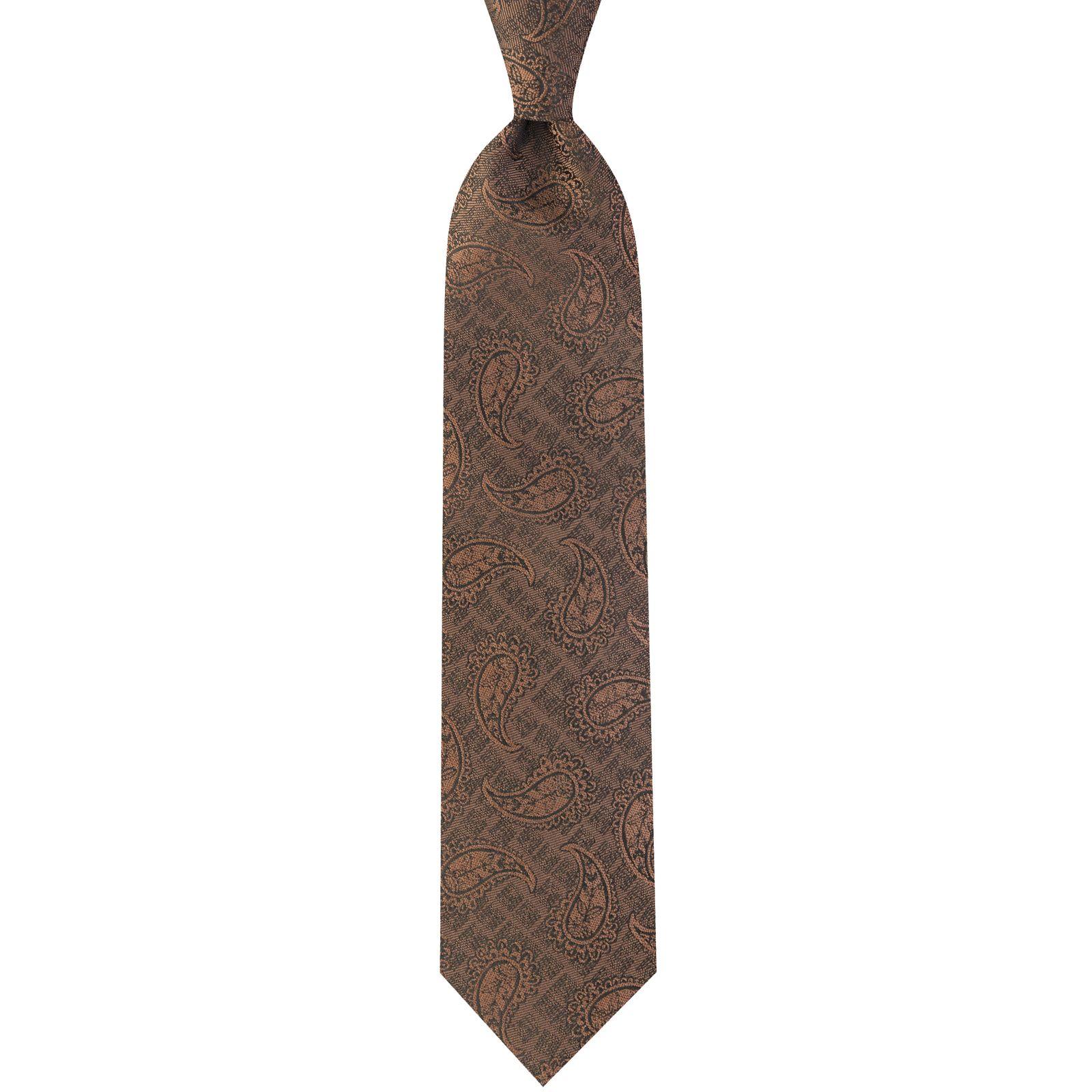 ست کراوات و دستمال جیب و گل کت مردانه جیان فرانکو روسی مدل GF-PA923-BR -  - 4
