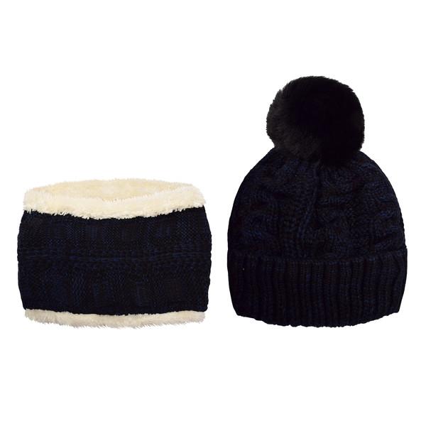 ست کلاه و شال گردن بافتنی بچگانه کد P0144-1