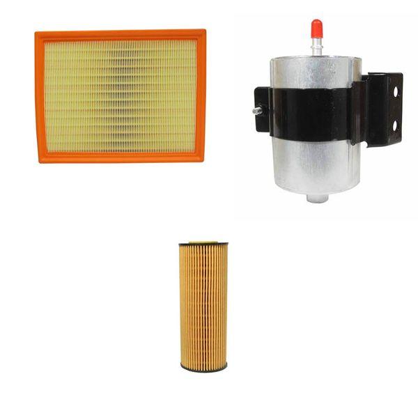 فیلتر هوا خودرو سانگ یانگ مدل 09001 مناسب برای اکتیون به همراه فیلتر روغن و فیلتر بنزین
