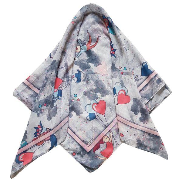 روسری دخترانه مدل آدم و بادکنک کد san930