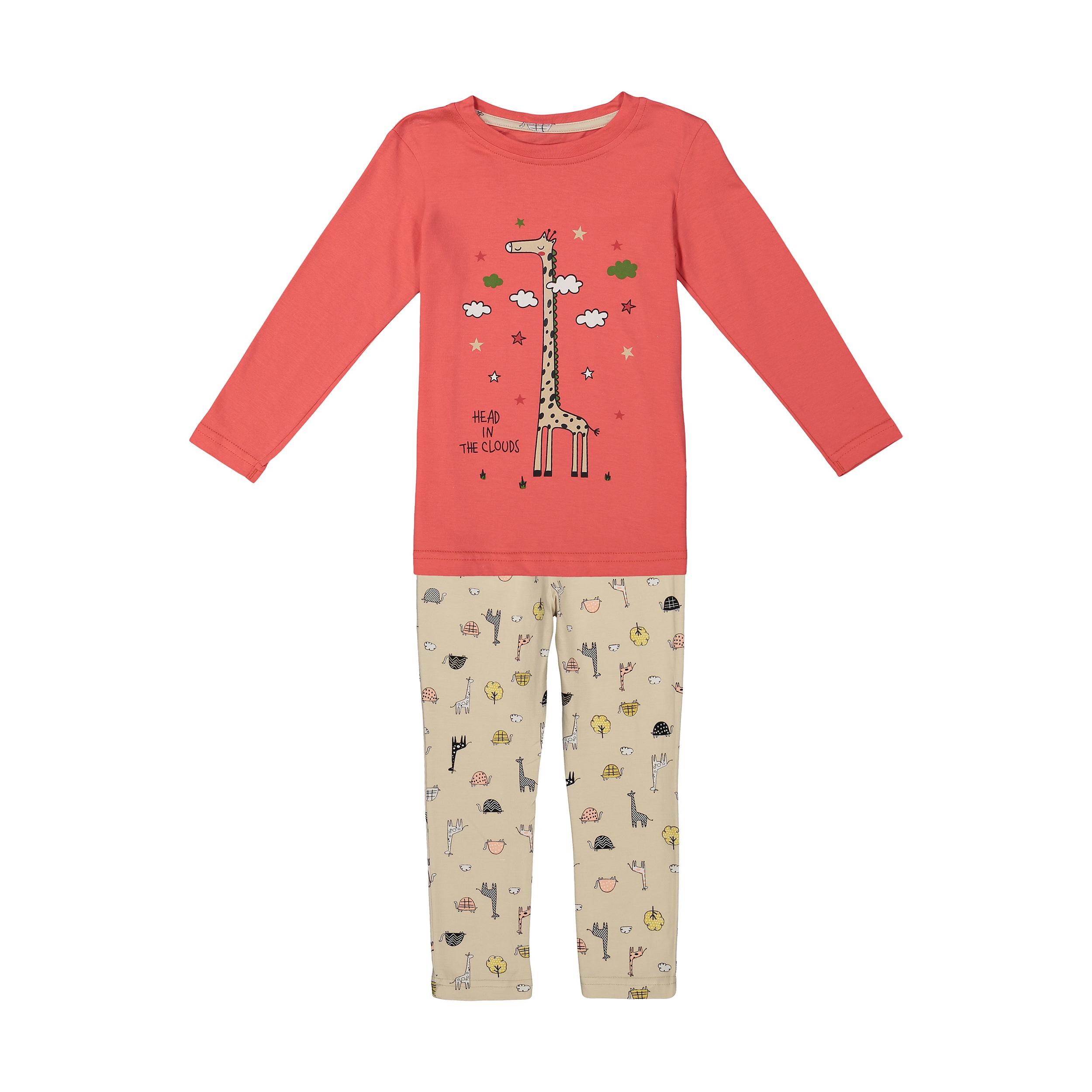 ست تی شرت و شلوار دخترانه ناربن مدل 1521273-72