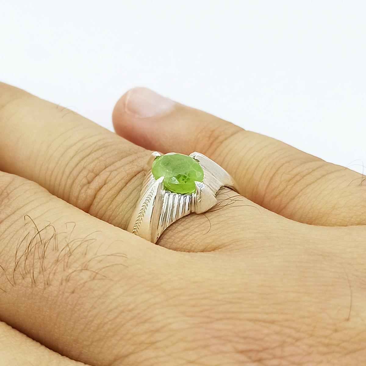 انگشتر نقره مردانه سلین کالا مدل زبرجد ce-As180
