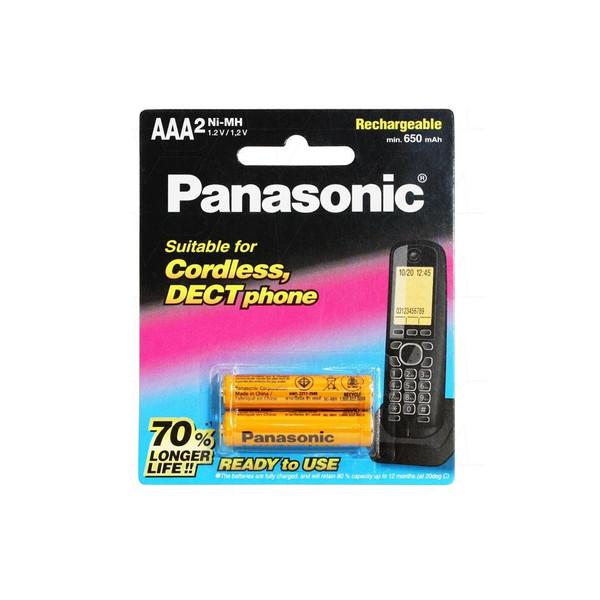 باتری نیم قلم قابل شارژ تلفن پاناسونیک مدل P-006 بسته 2 عددی