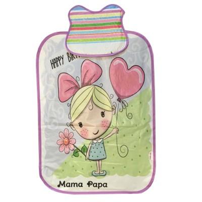 زیرانداز تعویض نوزاد ماما پاپا مدل دختر و قلب کد 9