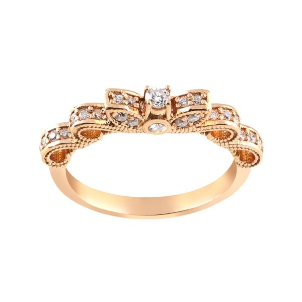 انگشتر طلا 18 عیار زنانه جواهری سروری مدل 12493