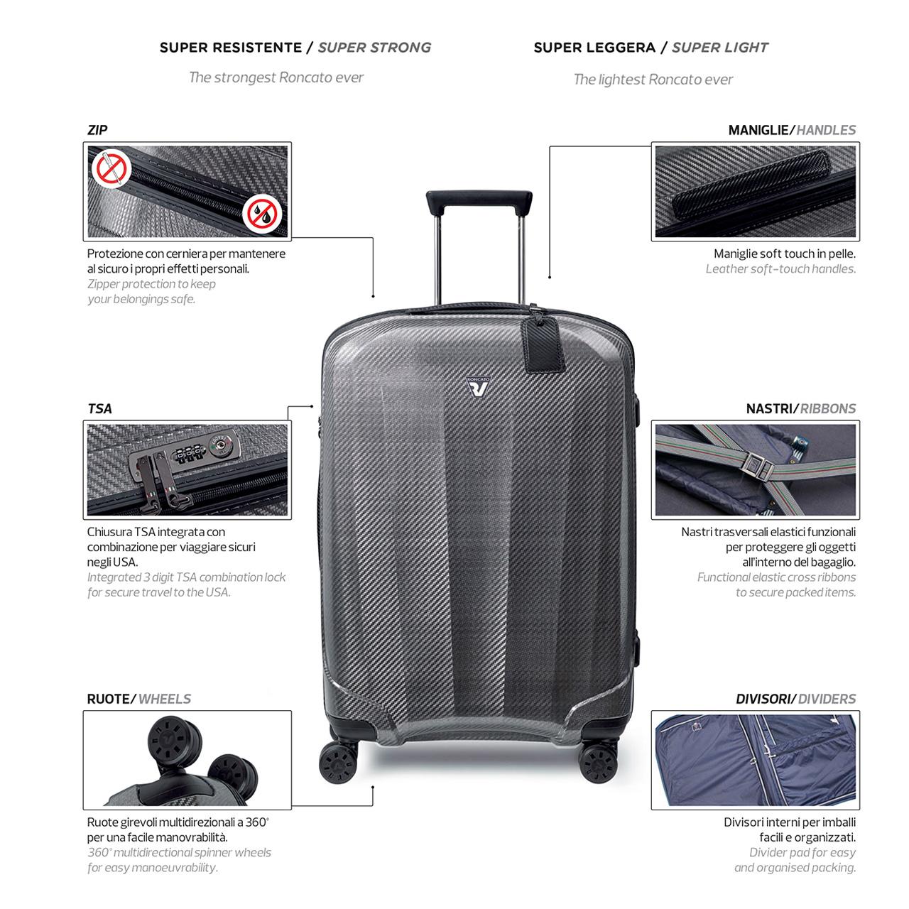 مجموعه سه عددی چمدان رونکاتو مدل 5950 thumb 7