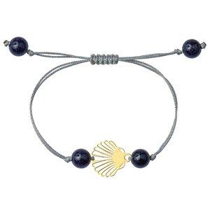 دستبند طلا 18 عیار دخترانه کرابو طرح صدف مدل Krd1016