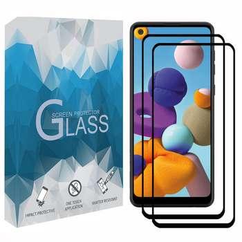 محافظ صفحه نمايش مدل FCRMP مناسب برای گوشی موبايل سامسونگ Galaxy A21 مجموعه دو عددی
