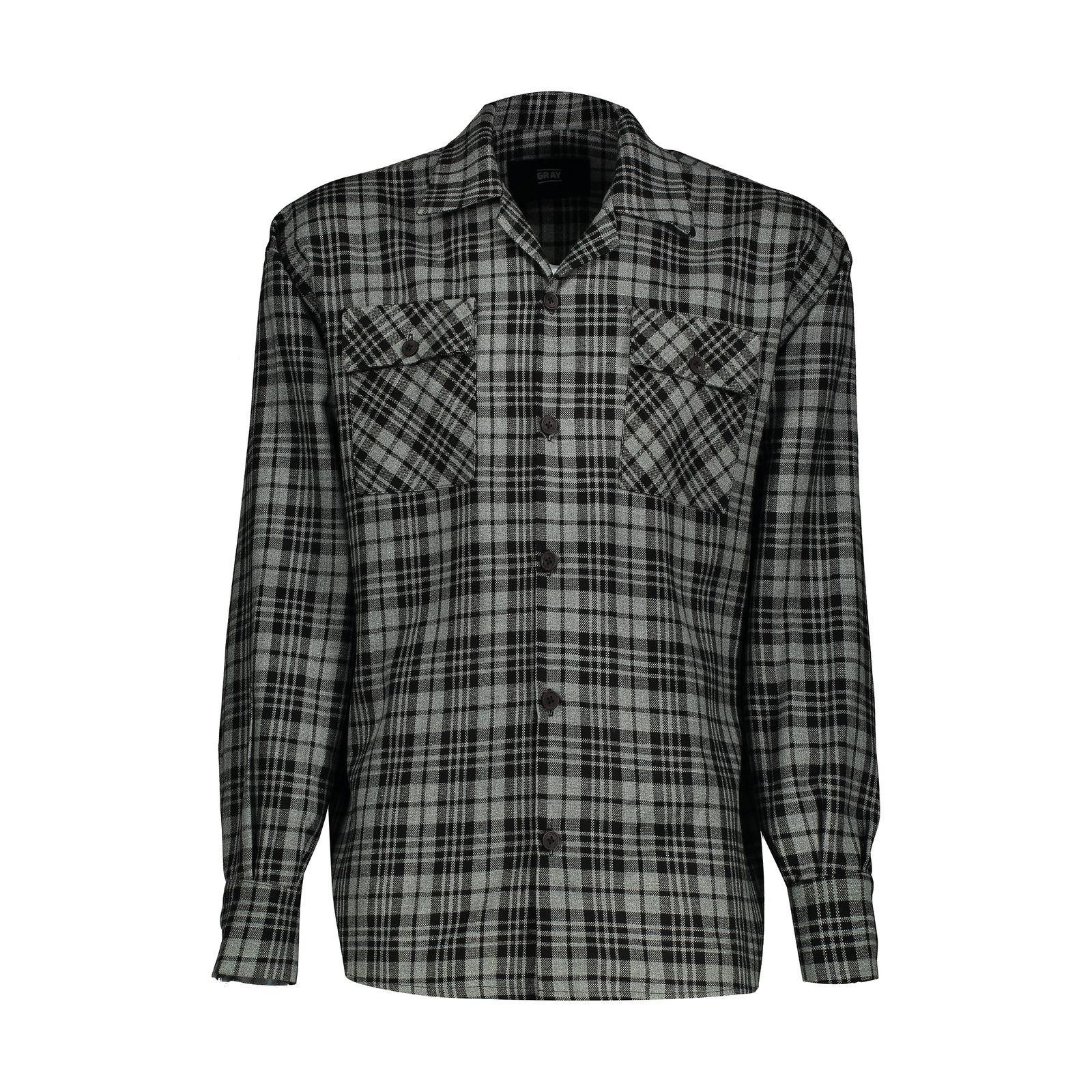 پیراهن مردانه گری مدل GW19 -  - 2