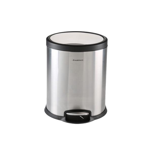 سطل زباله سام ست مدل V طرح استوانه ای کد 45132 ظرفیت 5 لیتری