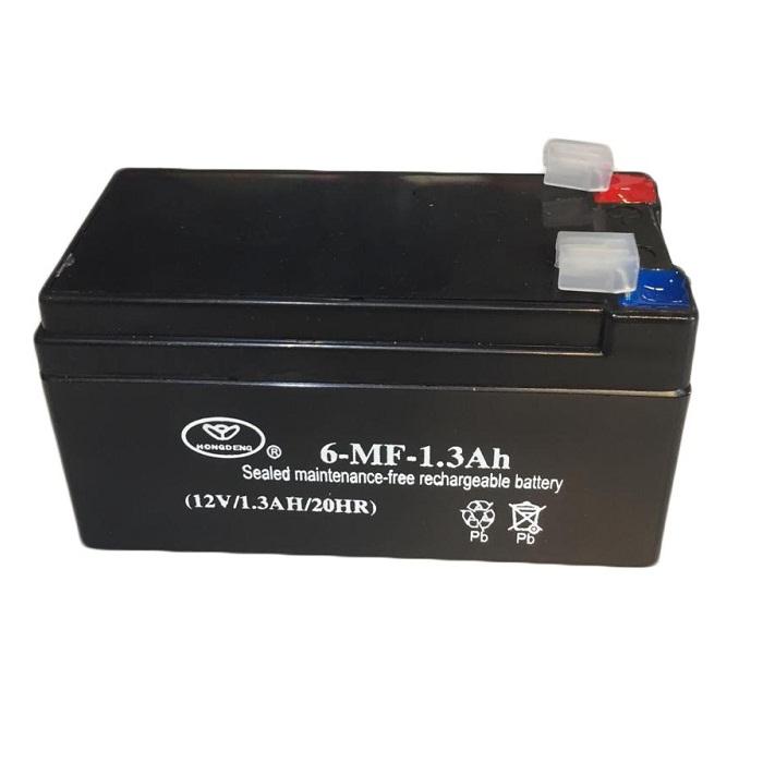 باتری یو پی اس 12 ولت 1.3 آمپر ساعت هانگ دنگ مدل 6-MF بسته 12 عددی