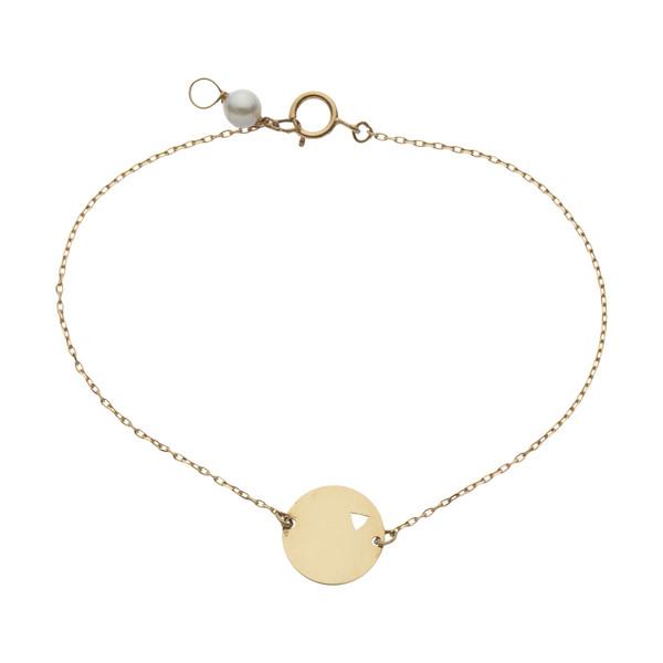 دستبند طلا 18 عیار زنانه نیوانی مدل DA2005