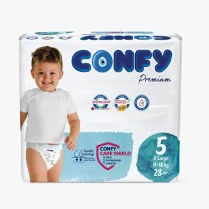 پوشک کودک کانفی سایز 5 مدل Premium بسته 28 عددی
